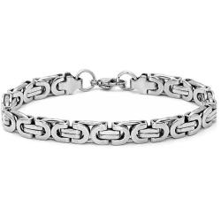 Oxford Ivy Men's Stainless Steel Chain Link Bracelet 8 1/2 inches - Thumbnail 0