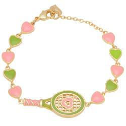Lily Nily Girl's Tennis Racket Link Bracelet