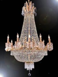 French Empire Crystal Chandelier Lighting 12 Lights