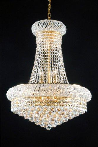 New French Empire Crystal Chandelier Lighting Gold 15 Lights