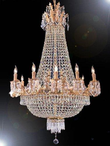 French Empire Crystal Chandelier With 15 Lights H40 x W30