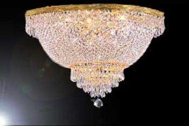Flush Basket Empire Crystal Chandelier Lighting H18 x W30