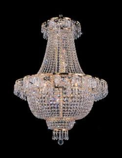French Empire Crystal Chandelier Lighting H30 x W24