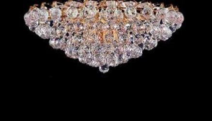 Flush French Empire Crystal Chandelier Lighting With Crystal Balls