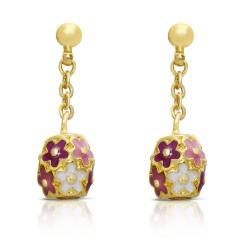 Lily Nily Girl's Flower Ball Dangle Earrings