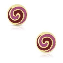 Lily Nily Girl's Lollipop Swirl Stud Earrings