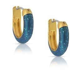 Lily Nily Girl's Glitter Hoop Earrings