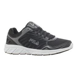 Women's Fila Gamble Running Shoe Black/Black/Metallic Silver