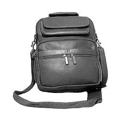 David King Leather 454 Large Organizer Bag Black