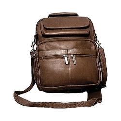 David King Leather 454 Large Organizer Bag Cafe