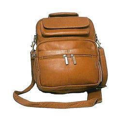 David King Leather 454 Large Organizer Bag Tan