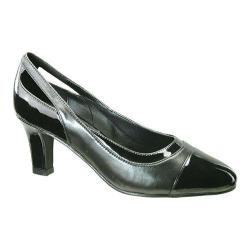 Women's David Tate Grove Pump Black Kidskin/Black Patent Leather