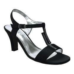 Women's David Tate Stargaze T Strap Sandal Black Satin