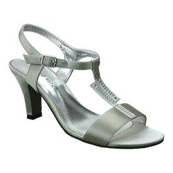Women's David Tate Stargaze T Strap Sandal Silver Satin