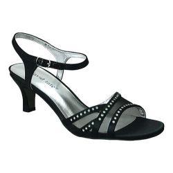 Women's David Tate Violet Ankle Strap Sandal Black Satin