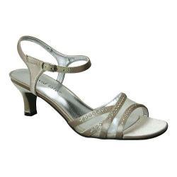 Women's David Tate Violet Ankle Strap Sandal Champagne Satin