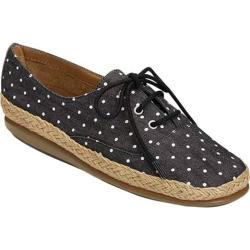 Women's Aerosoles Summer Sol Sneaker Black Dot Fabric
