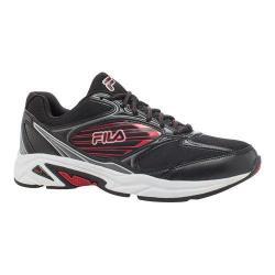 Men's Fila Inspell 3 Running Shoe Black/Dark Silver/Fila Red