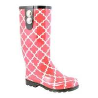 Women's Nomad Puddles II Coral Moroccan Trellis