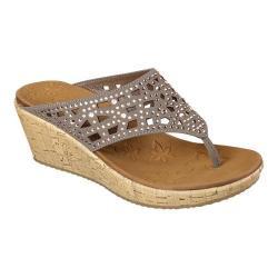 Women's Skechers Beverlee Dazzled Wedge Sandal Taupe|https://ak1.ostkcdn.com/images/products/99/846/P18407680.jpg?_ostk_perf_=percv&impolicy=medium