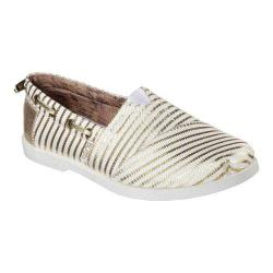 Women's Skechers BOBS Chill Luxe Beach Club Alpargata White/Gold