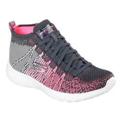Women's Skechers Burst Sweet Symphony High Top Charcoal/Pink
