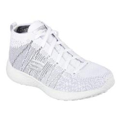 Women's Skechers Burst Sweet Symphony High Top White/Silver