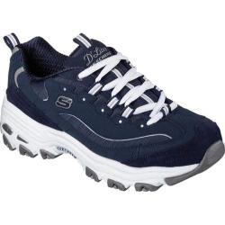 Women's Skechers D'Lites Sneaker Me Time/Navy/White