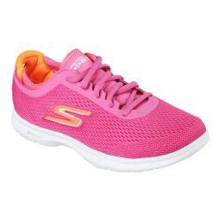 Women's Skechers GO STEP Sport Lace Up Shoe Hot Pink/Orange
