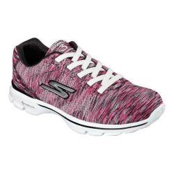 Women's Skechers GOwalk 3 Inspired Sneaker Black/Hot Pink