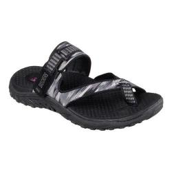 Women's Skechers Reggae Brush Strokes Sandal Black/Gray