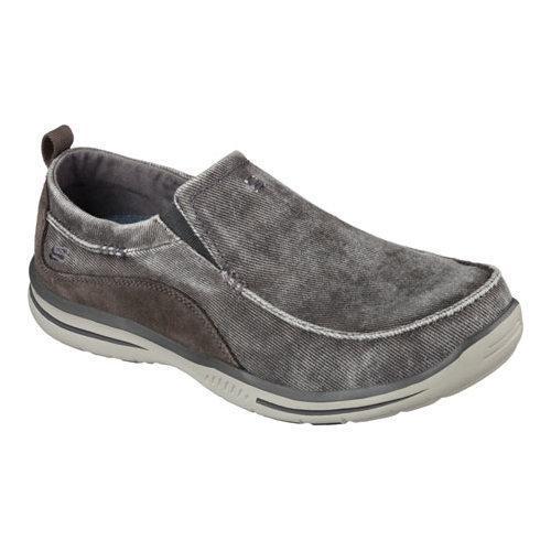 ... Men's Shoes; /; Men's Slip-ons. Men's Skechers Relaxed Fit Elected  Drigo Loafer Charcoal