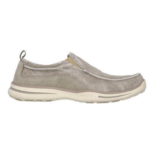 Men's Skechers Relaxed Fit Elected Drigo Loafer Taupe - Thumbnail 1