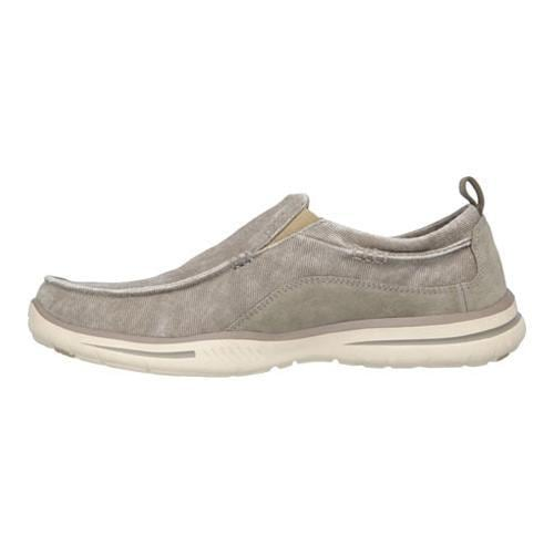 Men's Skechers Relaxed Fit Elected Drigo Loafer Taupe - Thumbnail 2
