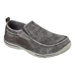 Men's Skechers Relaxed Fit Elected Drigo Loafer Charcoal