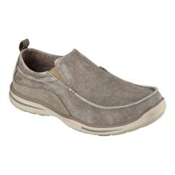 Men's Skechers Relaxed Fit Elected Drigo Loafer Taupe