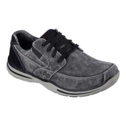 Men's Skechers Relaxed Fit Elected Fultone Lace Up Dark Gray
