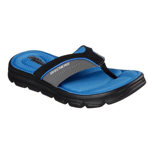 32984f3214f5 Shop Boys  Skechers Wind Swell Sand Diver Thong Sandal Charcoal Royal -  Free Shipping On Orders Over  45 - Overstock - 11448837
