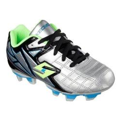 Boys' Skechers Teamsterz Off Sides Soccer Cleat Silver/Black