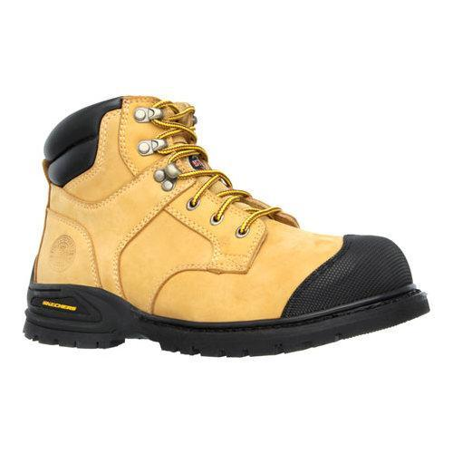 570375dc35d Shop Men s Skechers Work Relaxed Fit Kener Steel Toe Boot Wheat - Free  Shipping Today - Overstock - 11448845