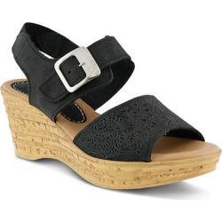 Women's Spring Step Mitu Quarter Strap Sandal Black Nubuck