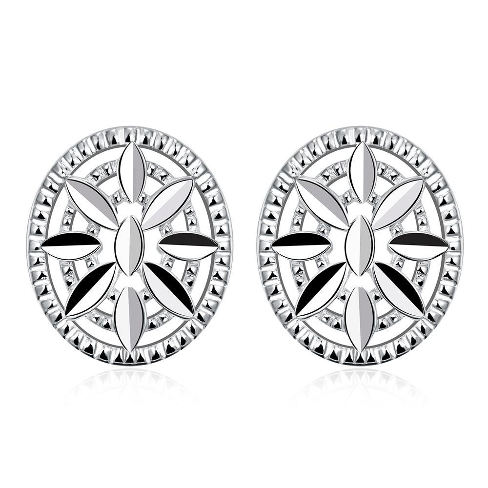 Vienna Jewelry Sterling Silver Shield Emblem Pendant Stud Earring