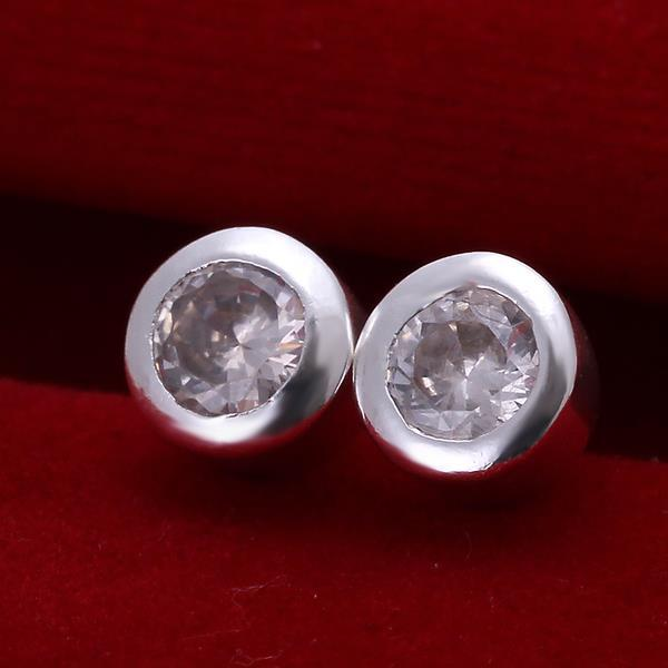 Vienna Jewelry Sterling Silver Circular Crystal Stud Earring