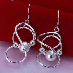 Vienna Jewelry Sterling Silver Abstract Curved Circular Drop Earring - Thumbnail 0