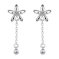 Vienna Jewelry Sterling Silver Starfish Pendant Drop Down Earring - Thumbnail 0