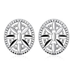 Vienna Jewelry Sterling Silver Shield Emblem Pendant Stud Earring - Thumbnail 0