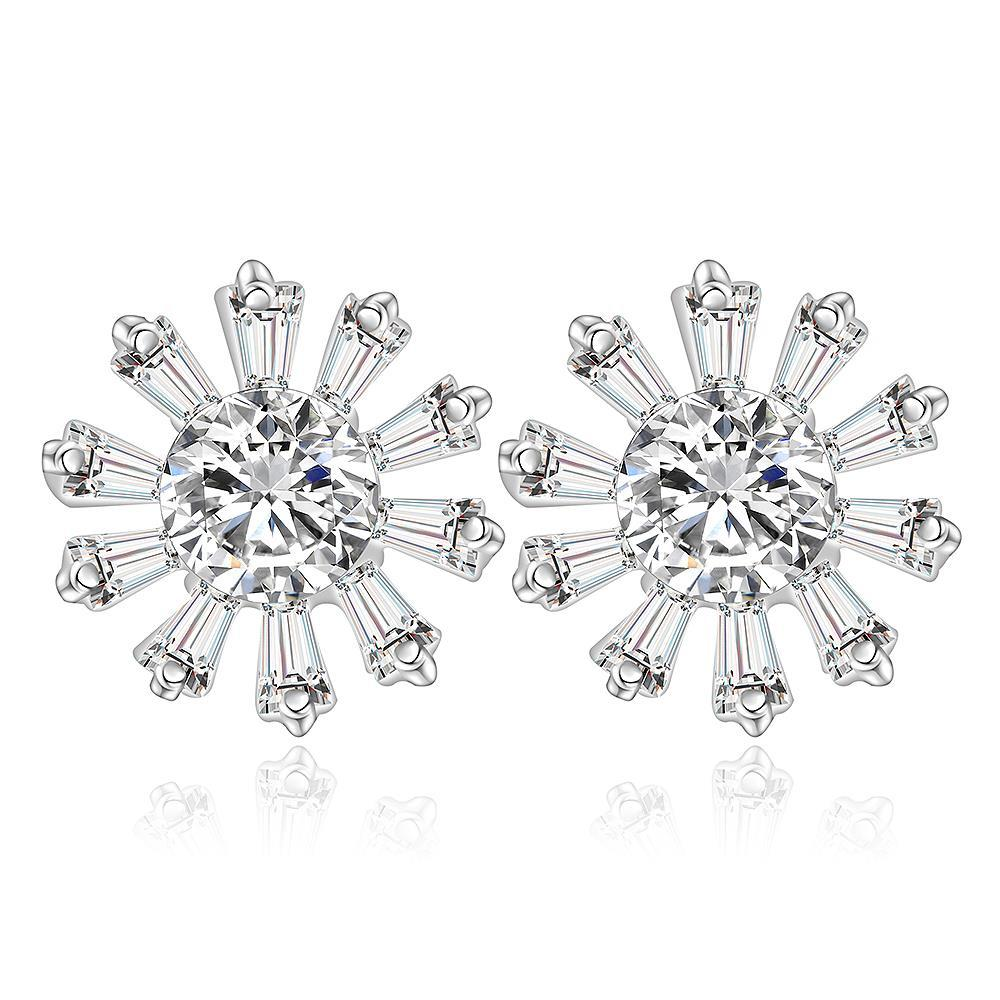 Vienna Jewelry Sterling Silver Blossoming Snowflake Earring