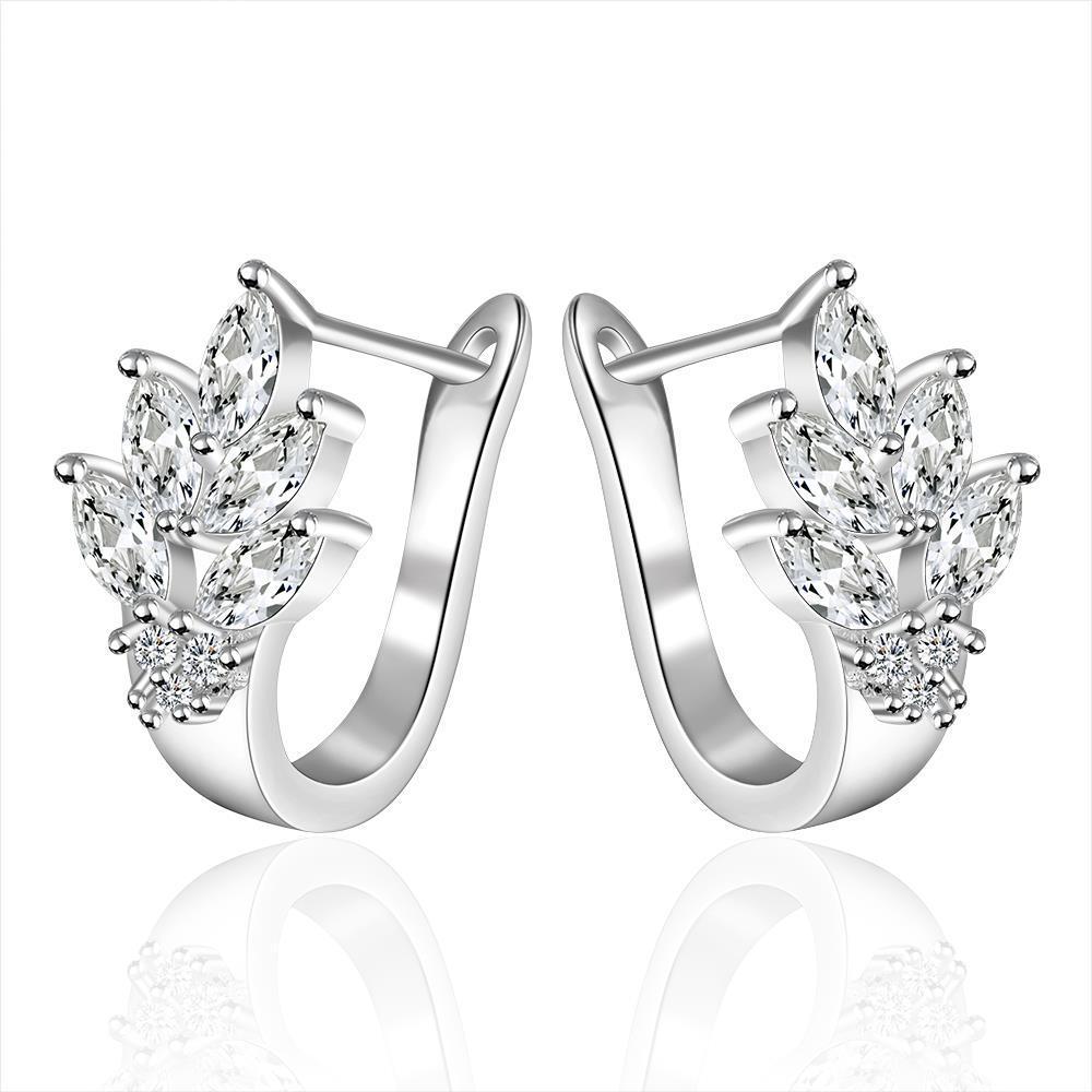 Vienna Jewelry Sterling Silver Leaf Twist Earring