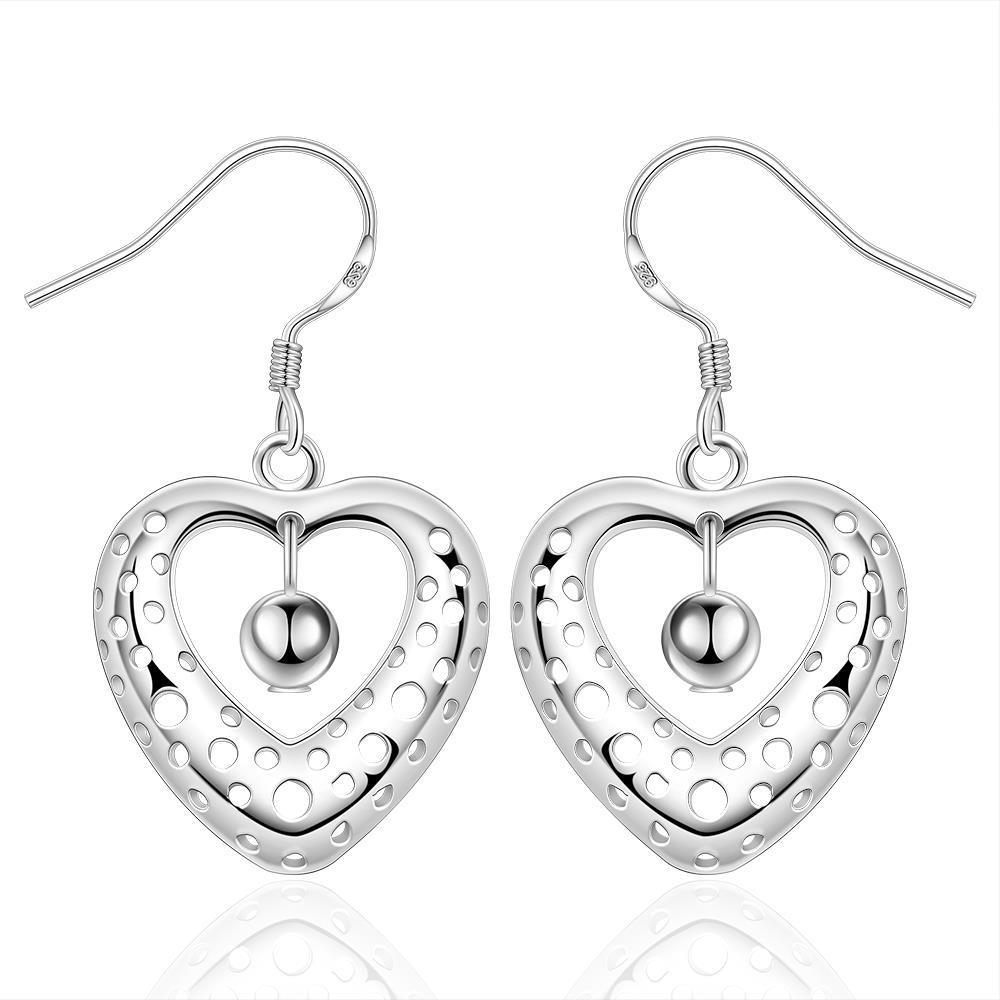Vienna Jewelry Sterling Silver Petite Heart Shaped Earring