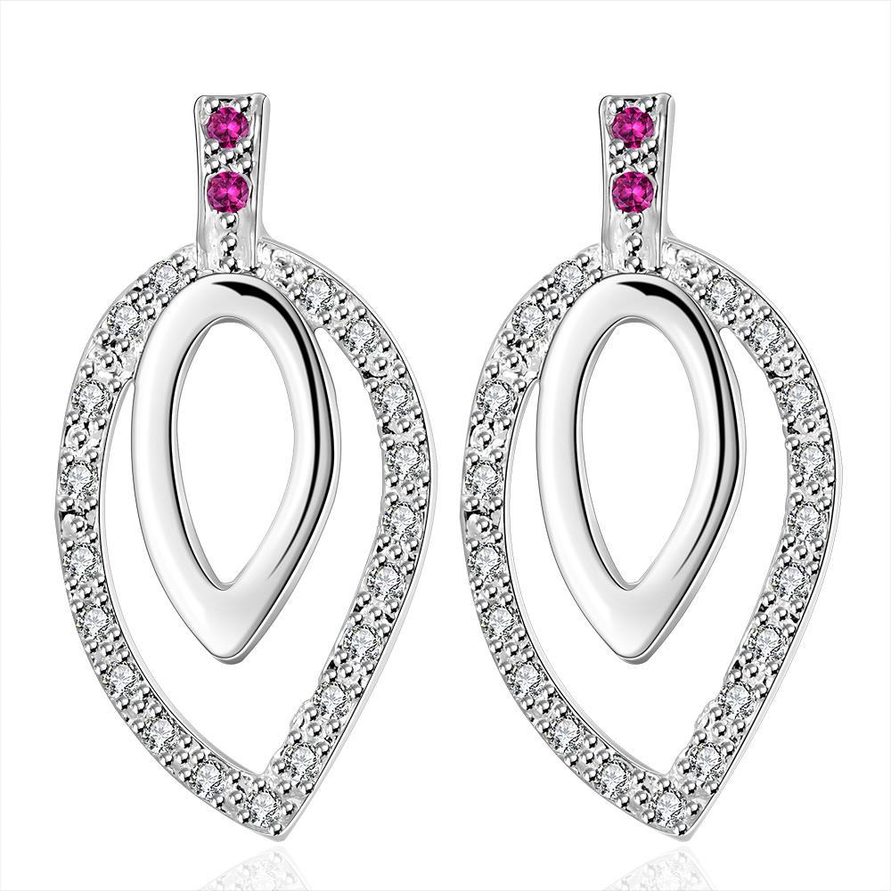 Vienna Jewelry Sterling Silver Abstract Circular Drop Drop Earring